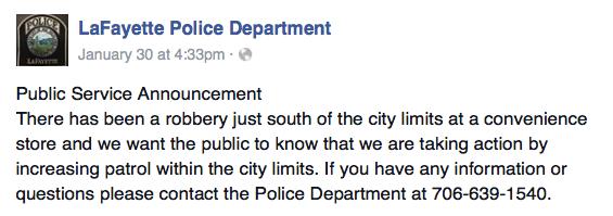 LPD Facebook / Steve's Kwik Stop Robbery
