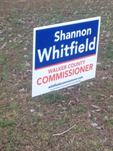 Shannon Whitfield Yard Sign