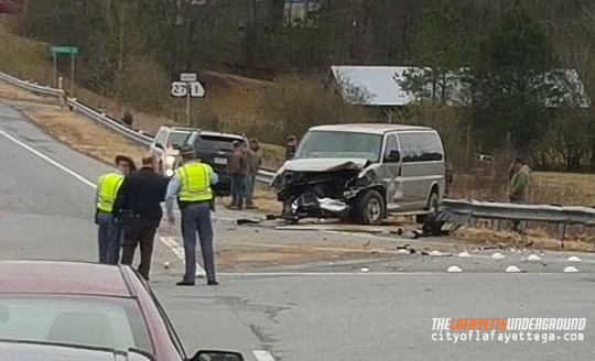 Wreck on 27 and Shattuck Industrial - February 17 2016