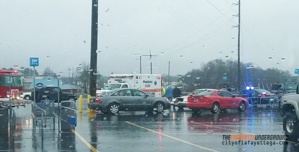 Feb 22 2016 Walmart Parking Lot Wreck