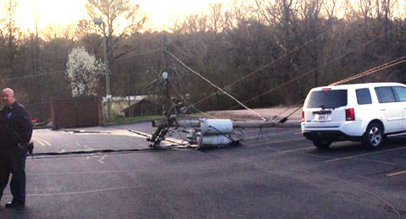 Downed Power Pole / Walker Co Messenger Josh OBryant