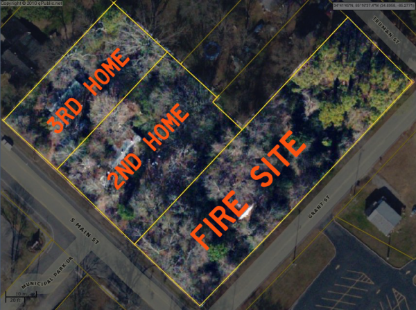 Grant Street Fire Property Map