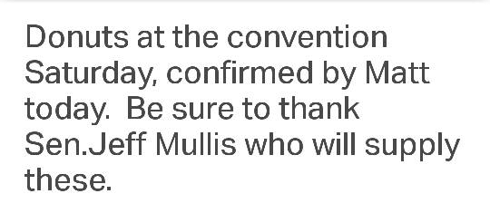 Walker Convention / Mullis Donuts