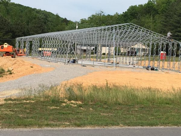 LHS Livestock Barn Construction