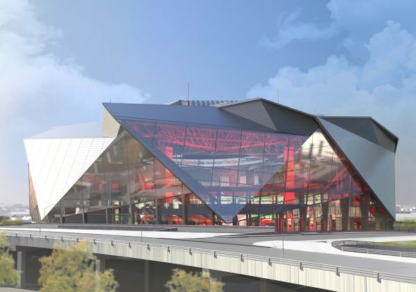 Mercedes Benz Stadium Atlanta Mockup Art