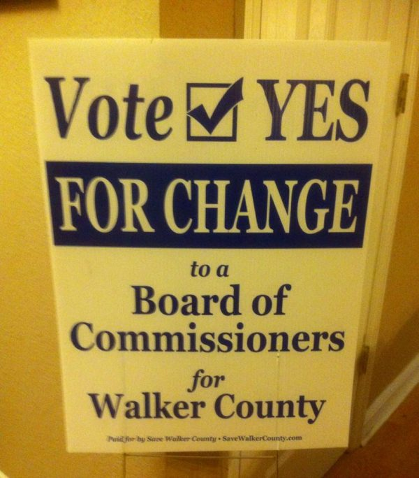 Vote YES on Board of Commissioners Sign