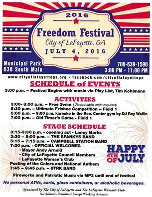 Freedom Festival 2016 Poster