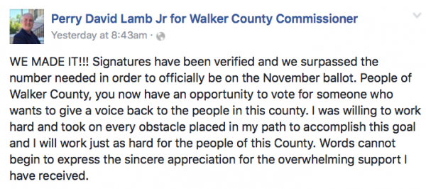 Perry Lamb Facebook: Perry Lamb Campaign Certified