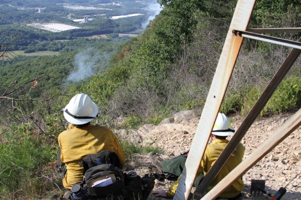 Lookout Mountain Fire from Above / Warren Bielenberg - Times Free Press