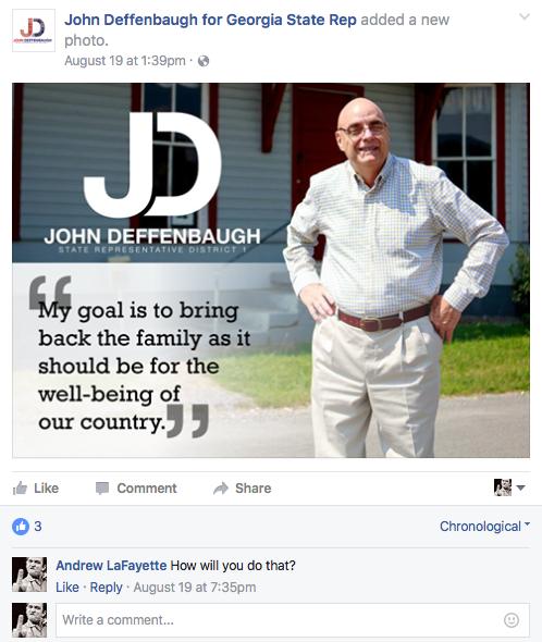 Deffenbaugh Facebook Question
