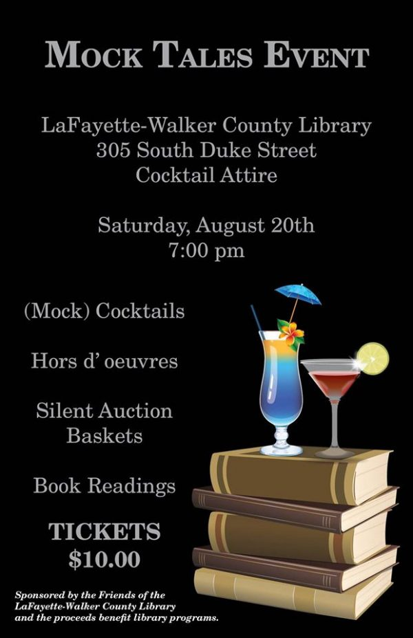LaFayette Library Mocktail Fundraiser