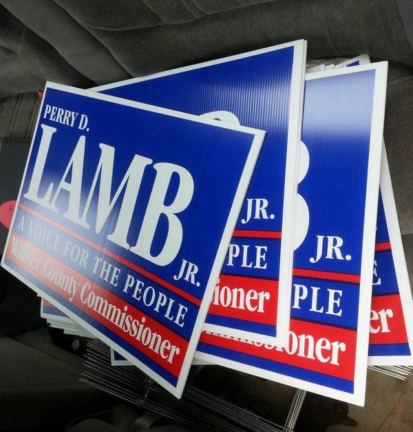 Perry Lamb Yard Signs