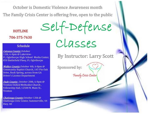 Family Crisis Center Self Defense Classes 2016