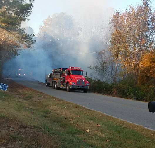 November 4 2016 Corinth Road Woods Fire